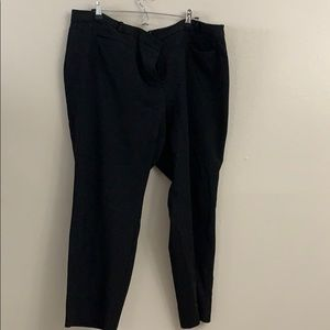 Black plus size slacks